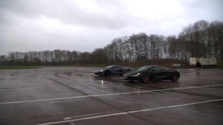Rain Won't Stop This Very Wet McLaren 720S Vs. 600LT Drag Race