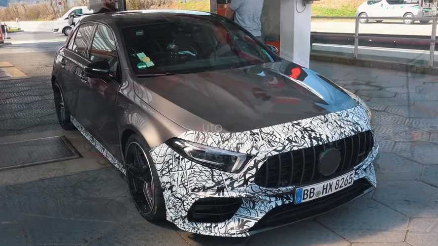 Mercedes-AMG A45 spied up close with less camo than ever