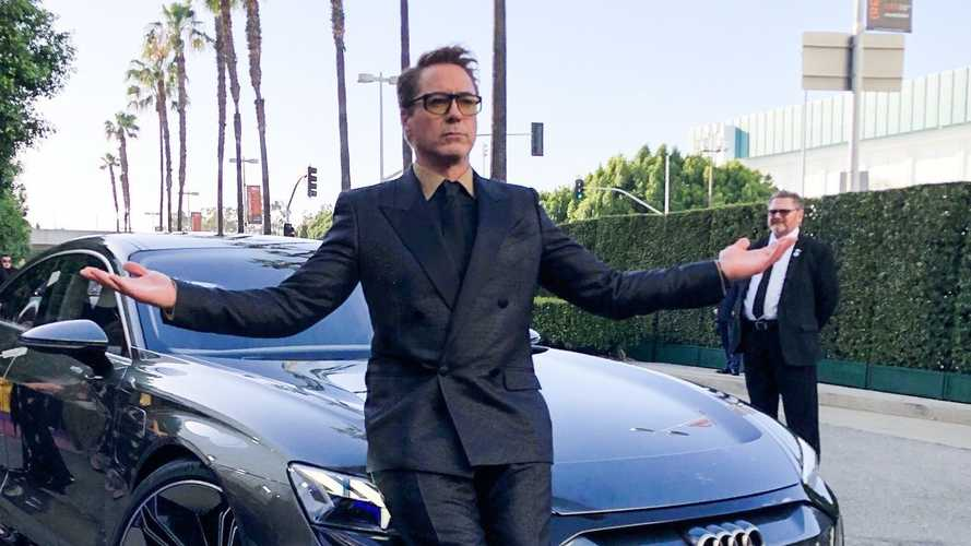 Tony Stark arrives in Audi E-Tron GT at Avengers: Endgame premiere