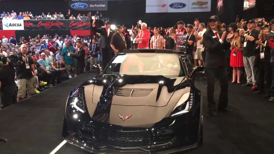 Go On-Stage At Barrett-Jackson For The Last C7 Corvette's $2.7M Bid