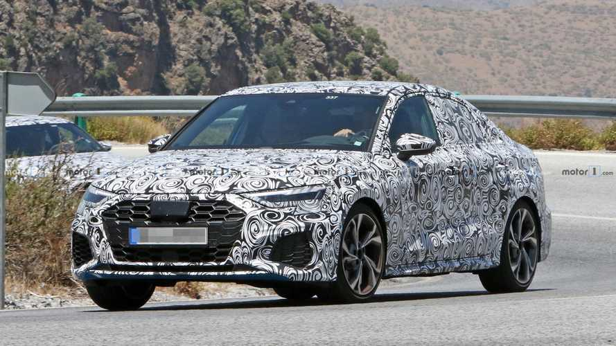 Next-gen Audi S3 Saloon spied for first time