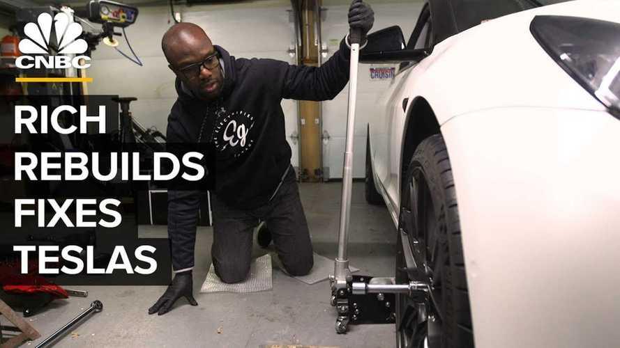 Famed YouTuber Rich Rebuilds Opens Up Tesla Repair Shop: Video
