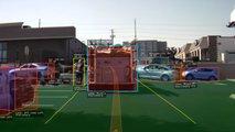 video tesla autopilot sees avoids construction cones