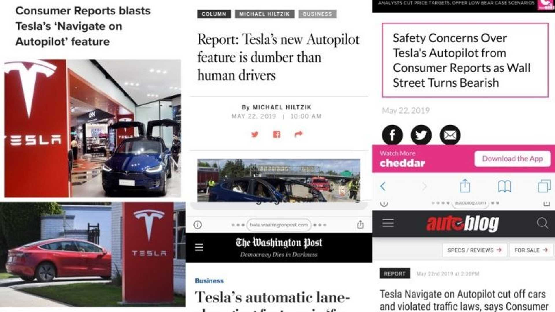 Consumer Reports Not Thrilled By Misleading Navigate On Autopilot Headlines