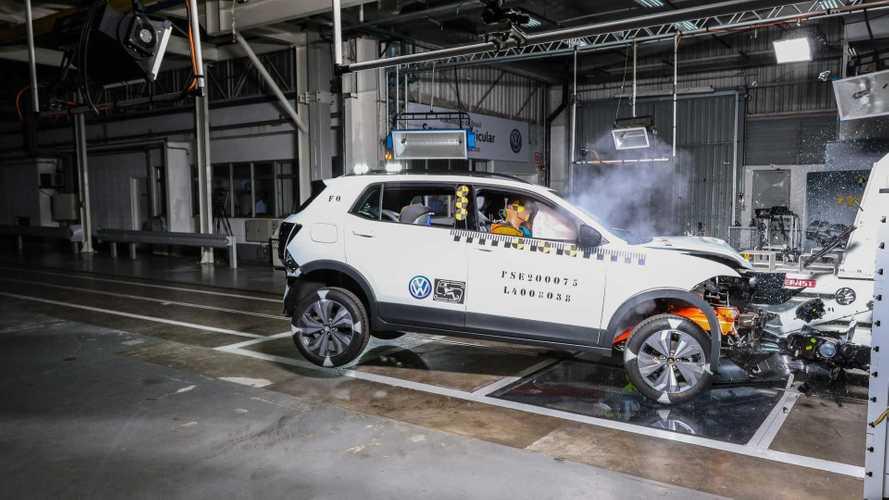 Na base da porrada: VW mostra como fez o T-Cross ter 5 estrelas em segurança