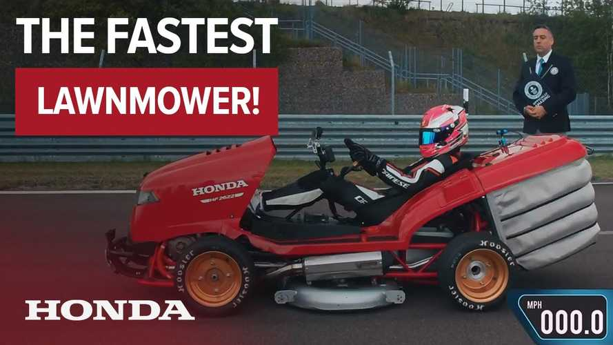 Honda Mean Mower hits 100 mph in 6.285 seconds, new Guinness record