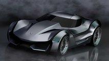 corvette stingray anniversary concept rendering