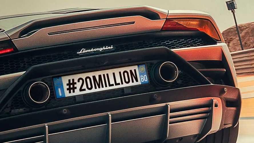 Lamborghini, i follower su Instagram sono a quota 20 milioni
