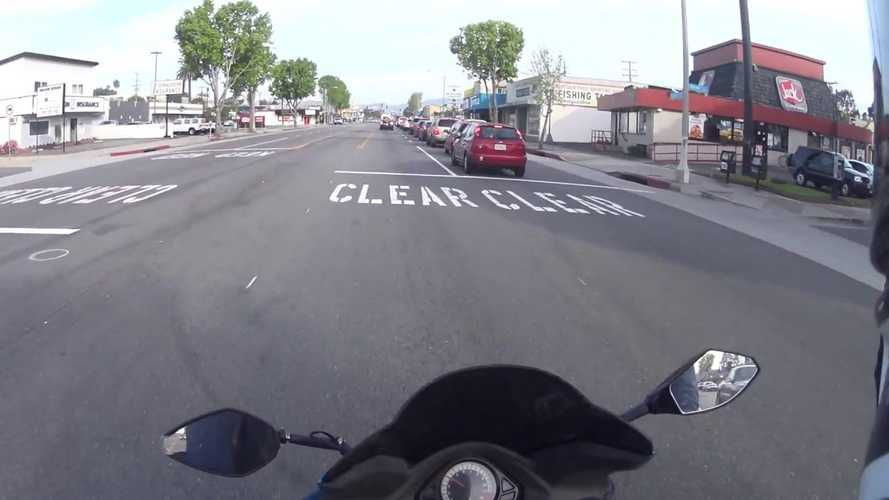 Watch This Truck Driver Save A Biker's Life