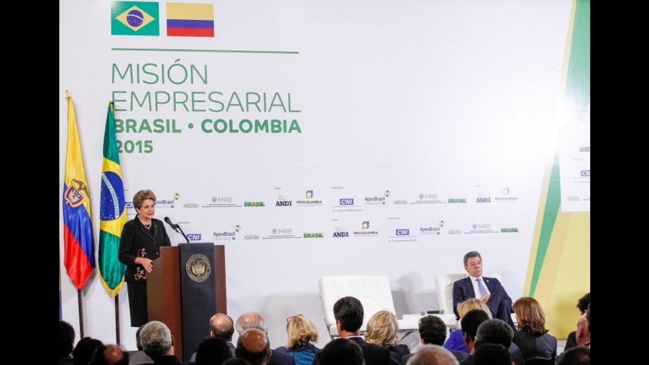 Brasil fecha acordo automotivo de 8 anos com a Colômbia; tarifas zeram em 2016