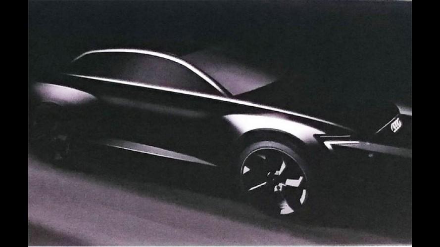 Audi divulga teaser de Q6 elétrico e confirma Q8 topo de linha