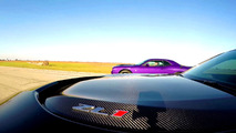 Dodge Challenger Hellcat - Chevrolet Camaro ZL1 drag yarışı