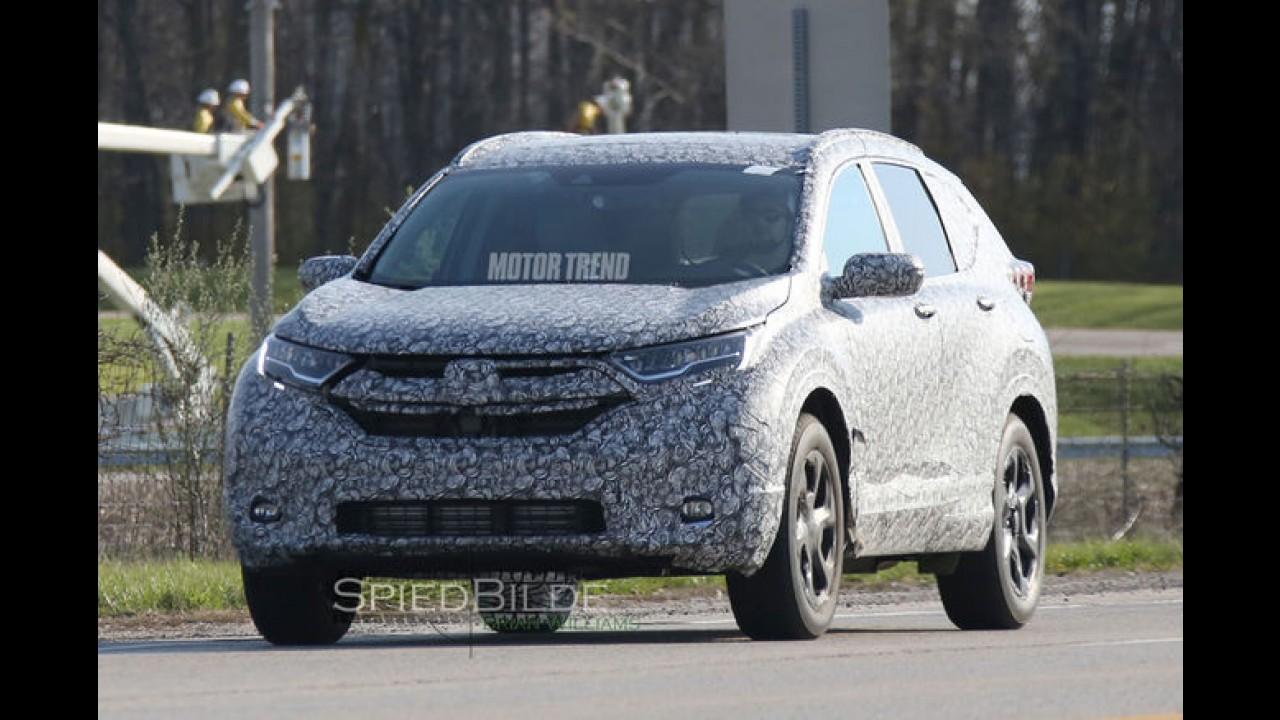 Flagra! Nova geração do Honda CR-V é pega pela primeira vez