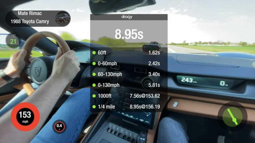 Watch Rimac C_Two Do Crazy Acceleration Runs, Quicker Than Bugatti Chiron
