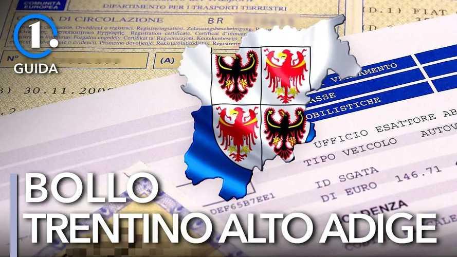 Come si paga il bollo auto in Trentino-Alto Adige