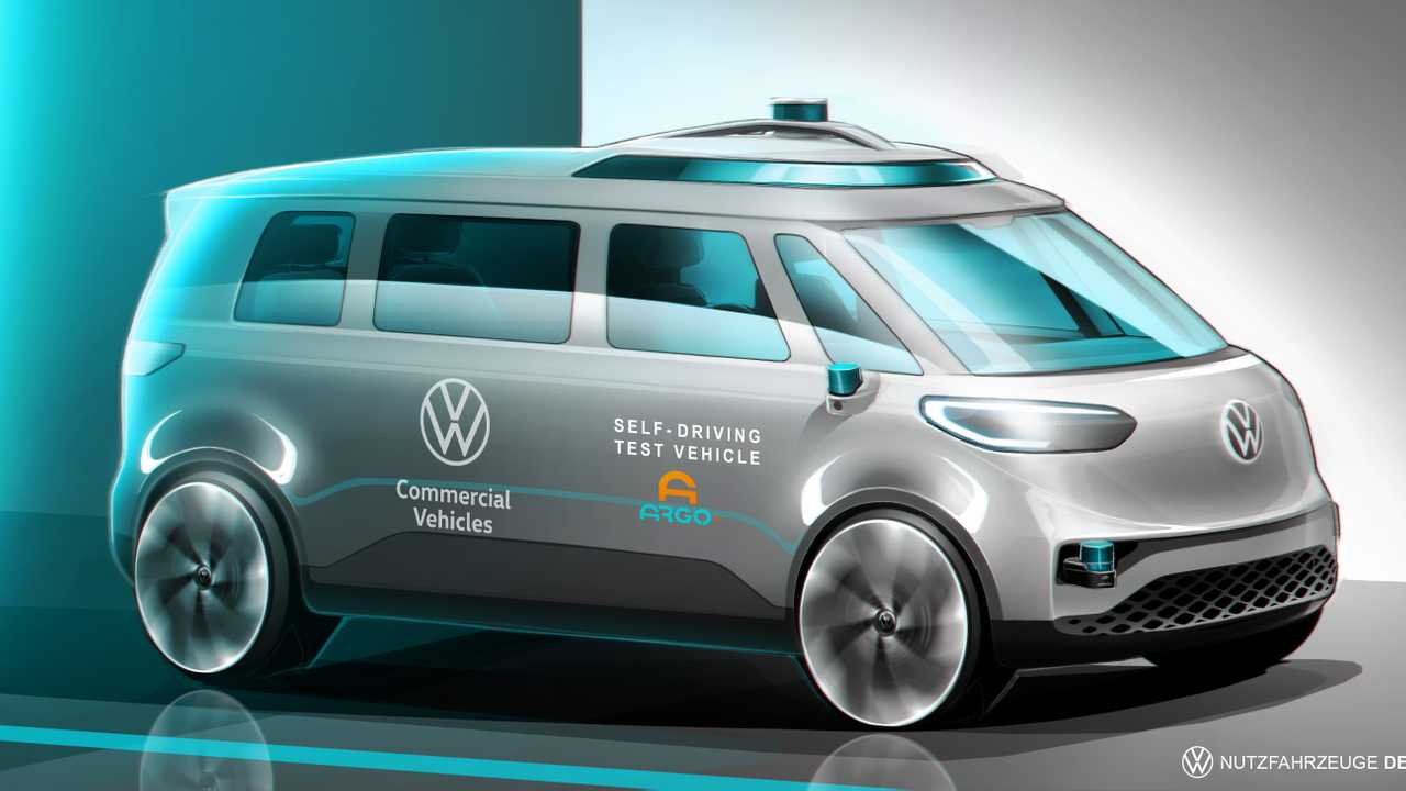 VW ID Buzz commercial vehicle rendering released.