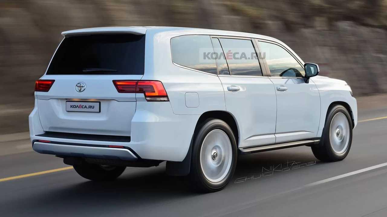 Next Toyota Land Cruiser Rendering Rear