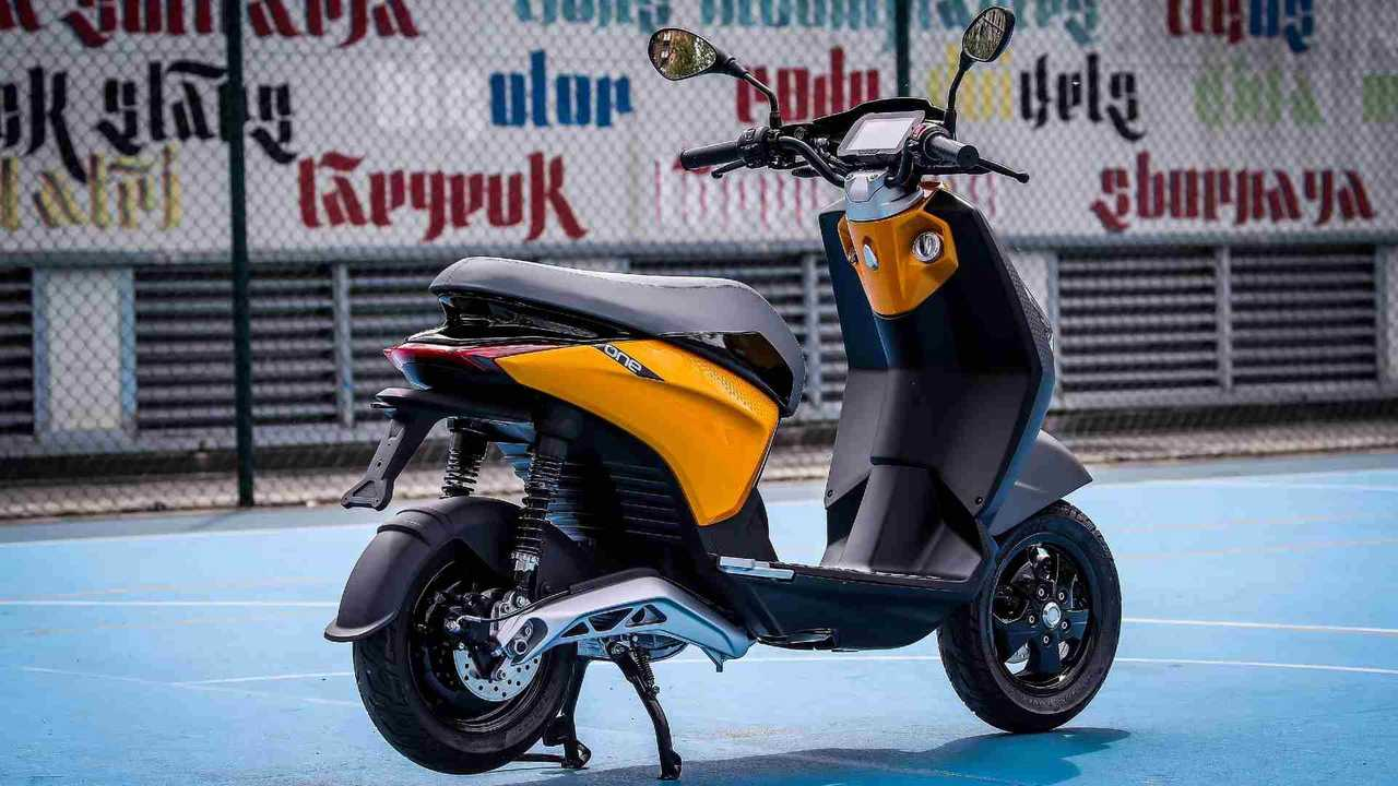 Piaggio One Electric Scooter Rear Right Angle View