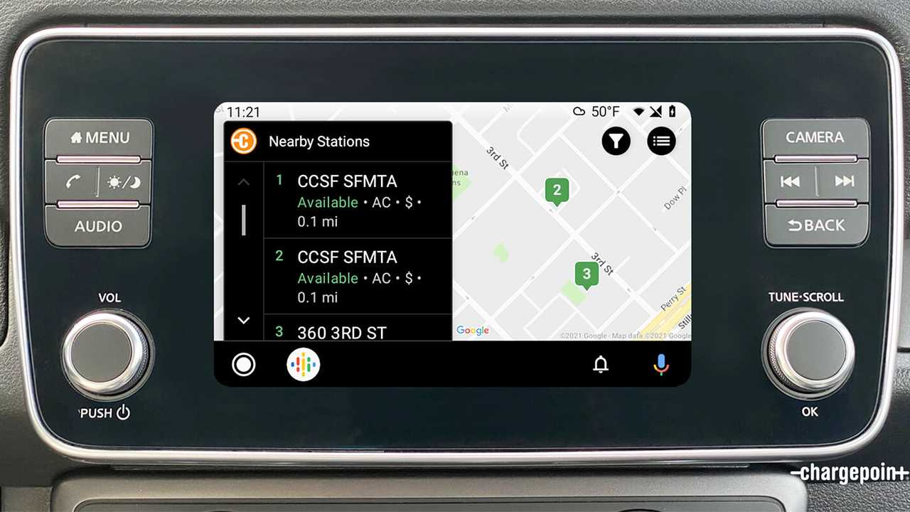 ChargePoint su Android Auto