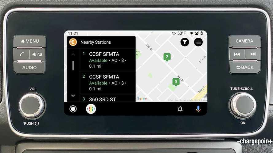 Cercare le stazioni di ricarica su Android Auto con ChargePoint