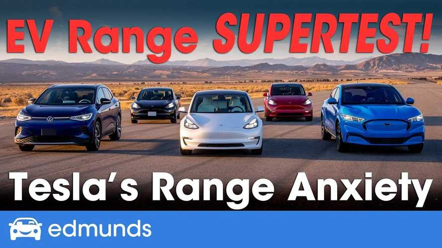 Edmunds' Range Test Battle: Tesla Model Y, Model 3, VW ID.4, Ford Mach-E