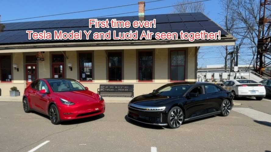 Tesla Model Y & Lucid Air Appear Together At EV Freedom Bill Event