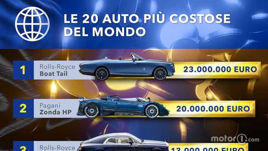 Le 20 auto più costose del mondo. Foto e classifica