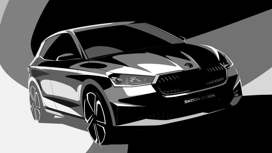 2021 Skoda Fabia Teased In Official Sketches Showing Sharp Design