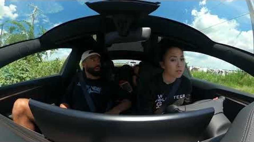 First Family Drive In Tesla Model S Plaid: Priceless Reactions