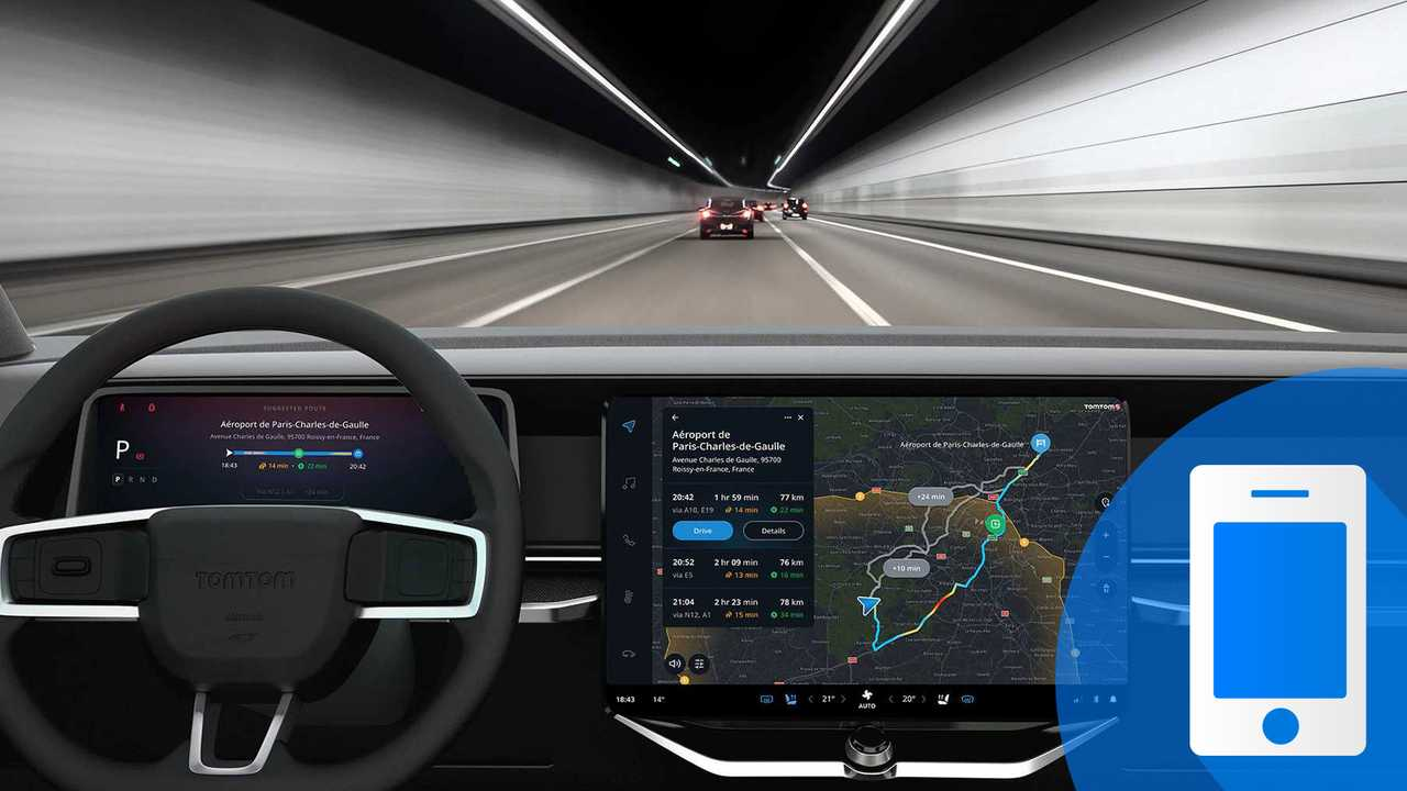 Interfaccia auto TomTom Navigation for Automotive