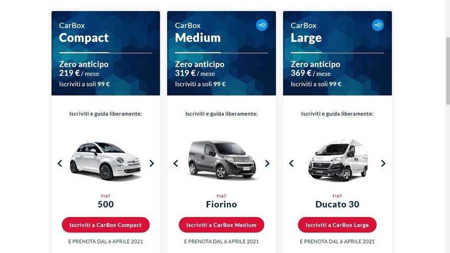 "CarBox, anche il van si noleggia ""on demand"""