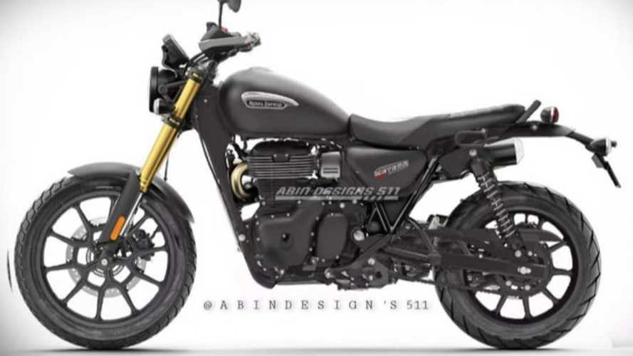 The Royal Enfield Meteor 350 Would Make A Badass Scrambler