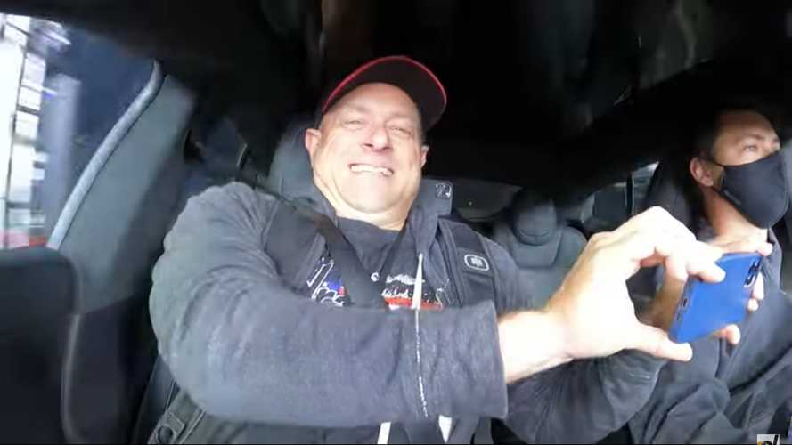 Watch The Face Of Tesla Model S Plaid Occupants When It Launches