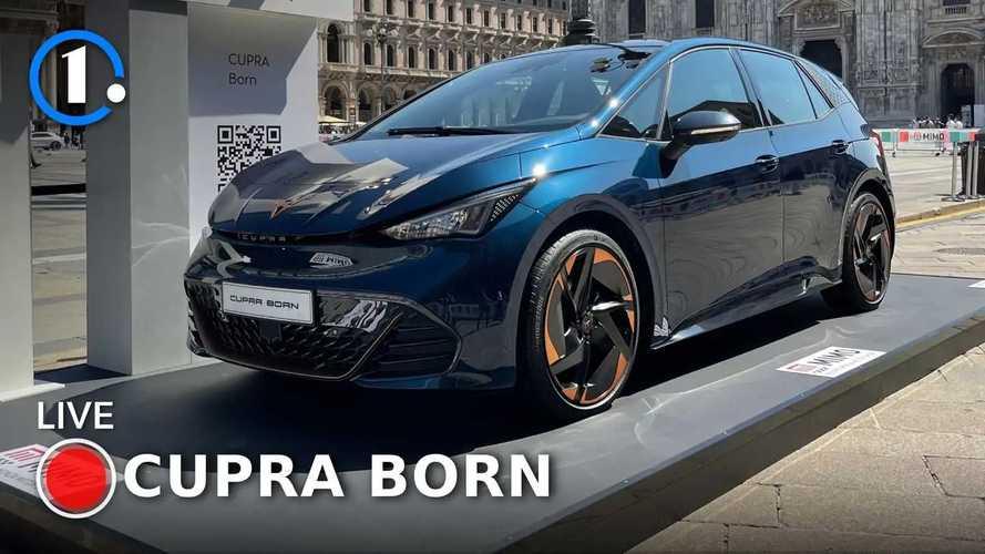 Cupra Born, la compatta elettrica sportiva in live dal MiMo 2021
