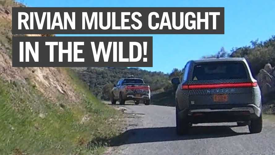Rivian R1S And R1T Test Mules Spotted In The Wild