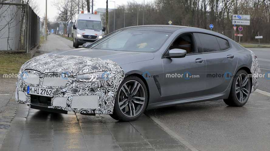 BMW 8 Series Gran Coupe facelift avoids big grille in new spy shots