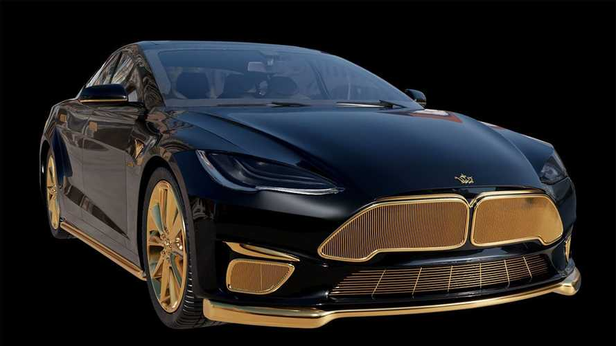 The world's most expensive Tesla Model S is plated in gold