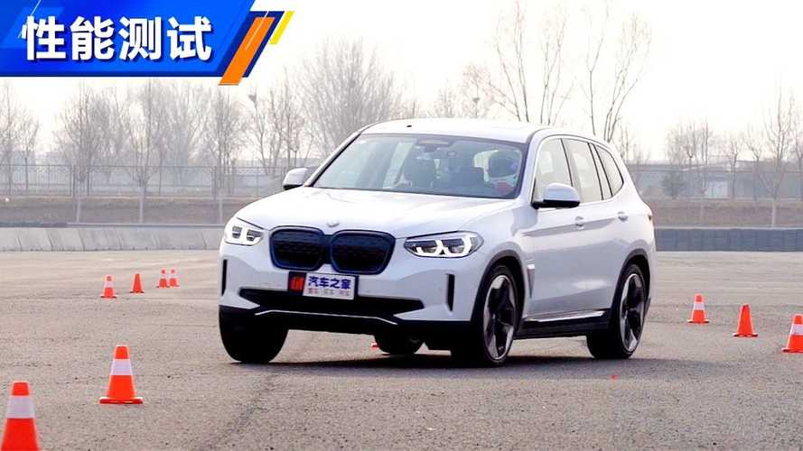 Watch A BMW iX3 Perform The Swedish Moose Test