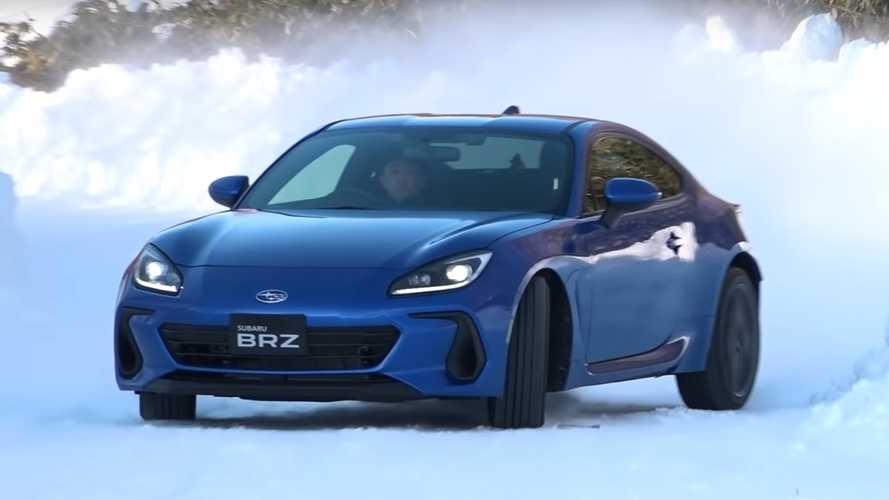 See The 2022 Subaru BRZ Enjoy Some Sideways Fun In The Snow