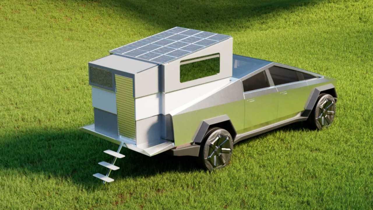 Tesla Cybertruck için hazırlanmış kamp modülü: CyberLandr