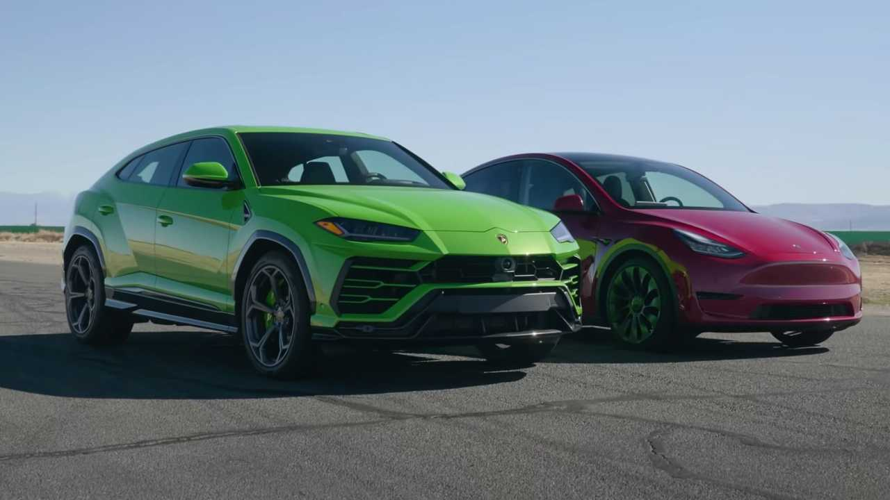 Tesla Model Y vs Lamborghini Urus Drag Race