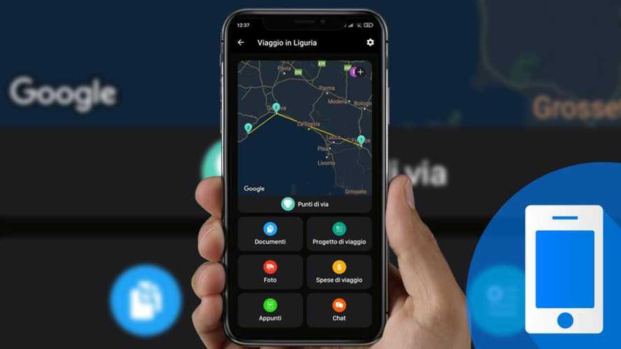 pianificazione di viaggi in auto con l'app Lambus