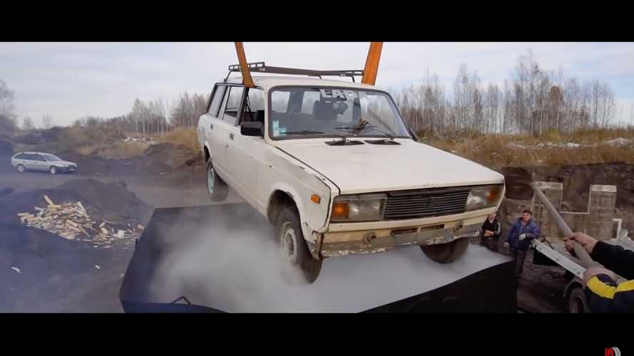 Lada soup: Rusty car dipped into 10 tons of boiling water