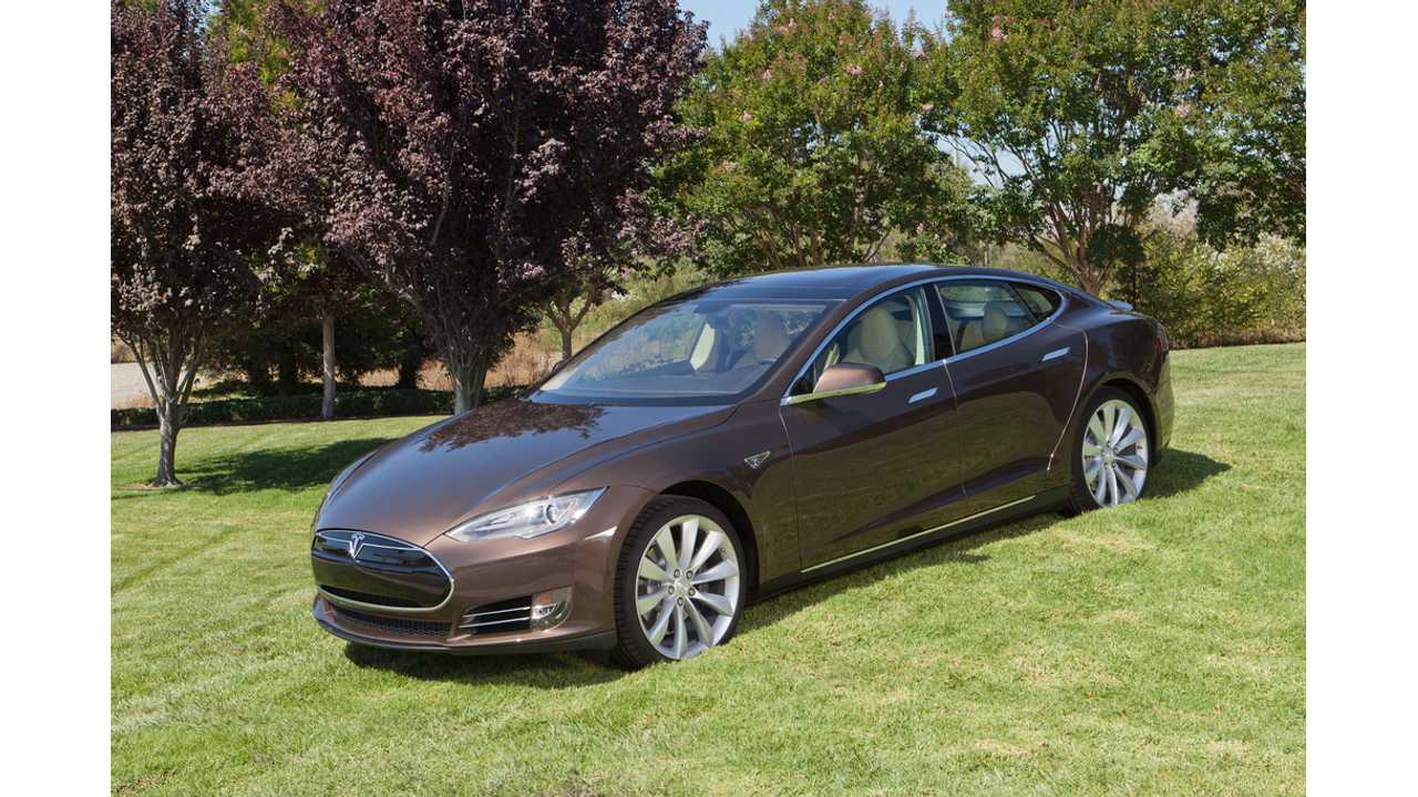 And there is something more. DragTimes.com doesn't like the BROWN shade of this Tesla Model S