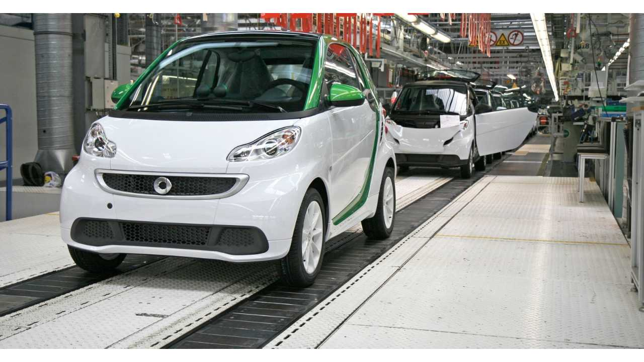 The smart ED Rolls Off The Line In France