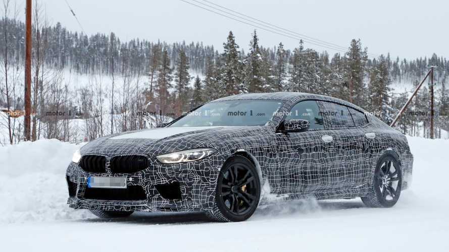 BMW M8 Gran Coupe Spied Playing In The Snow