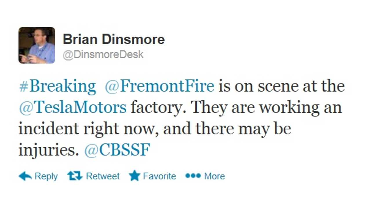Brian Dinesmore From KPIC Reports On Possible Injuries At Tesla Plant via Twitter Wednesday AFternoon