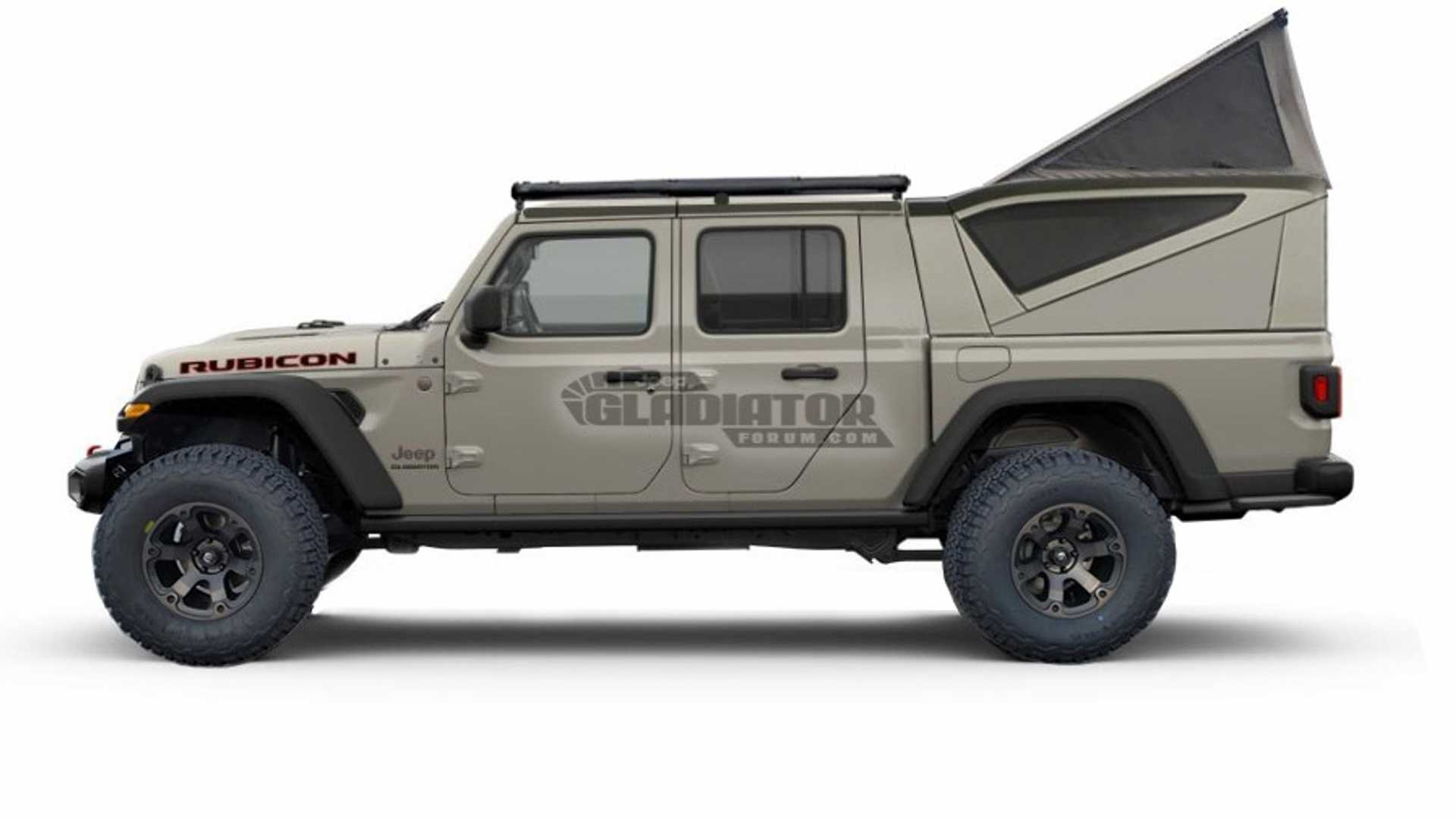 2020 Jeep Gladiator rendered with bed toppers | Motor1.com ...