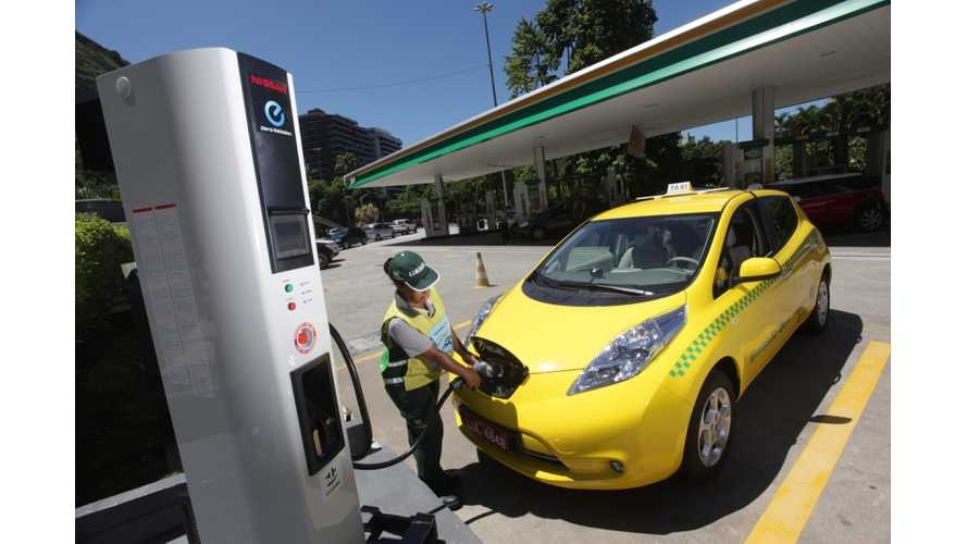 Nissan LEAF Responds to Call for Taxi Duty in Rio de Janiero Brazil