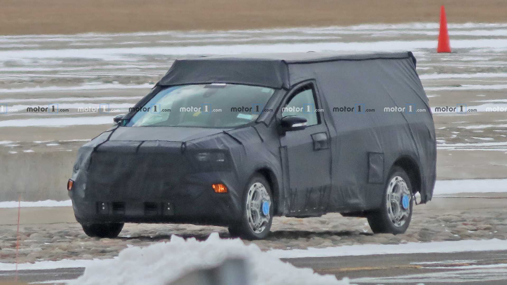 2020 - [Ford] Pickup  Ford-focus-based-pickup-spy-photos